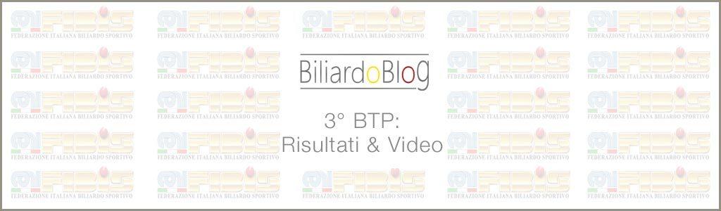 I Risultati del 3 BTP di Biliardo