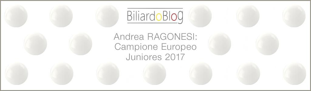 Andrea Ragonesi: Campione Europeo Juniores.