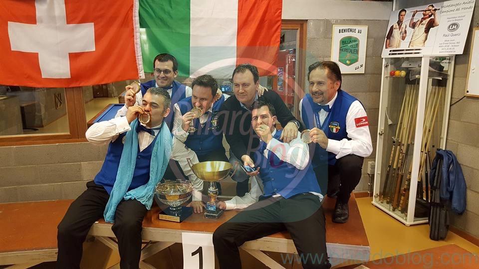 campionato Europeo di Biliardo a Squadre: l'esultanza