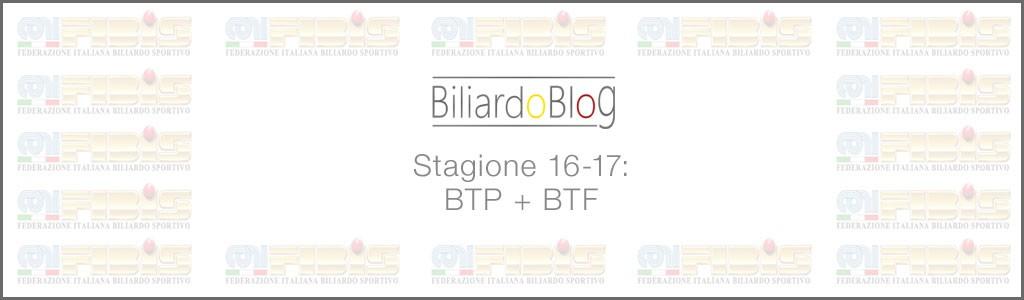 Campionato BTP di Biliardo 2016-2017 cat Nazionali