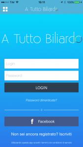 Log App sul Biliardo
