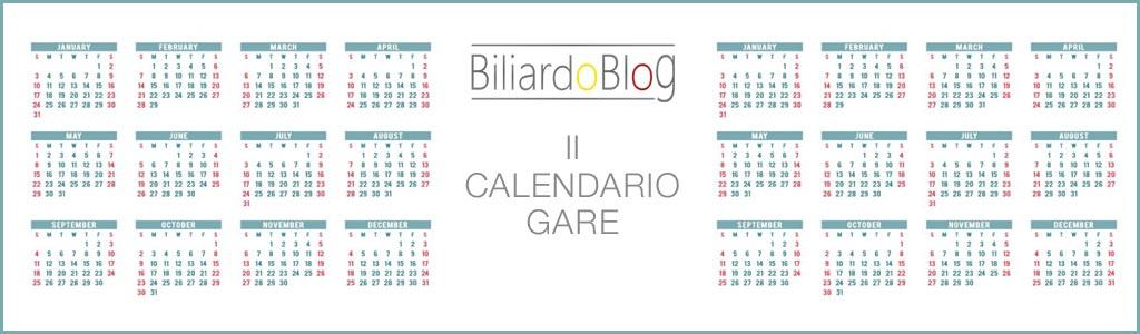 Calendario delle Gare di Biliardo