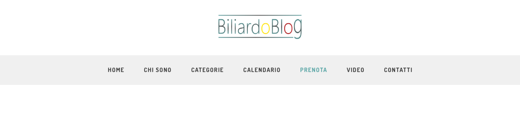 Partecipare alle Gare di Biliardo: sezione prenotazione