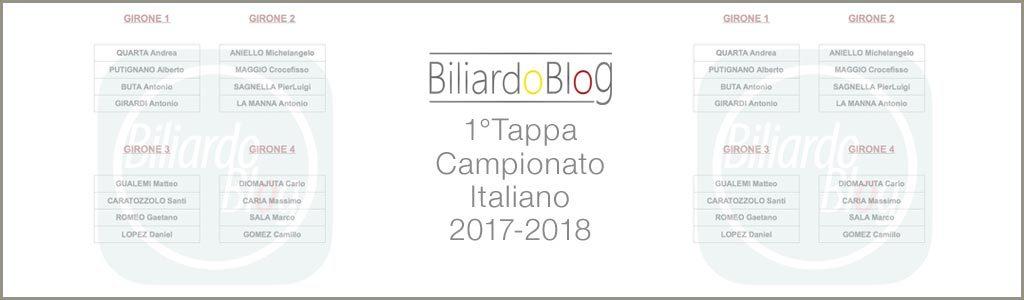 Prima Tappa Campionato Biliardo 2017
