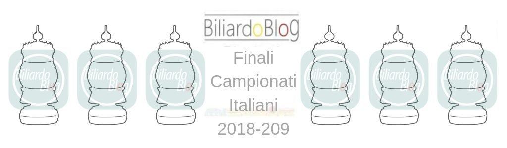 Le Finali del Campionato Italiano di Biliardo 2018 2019: presentazione evento
