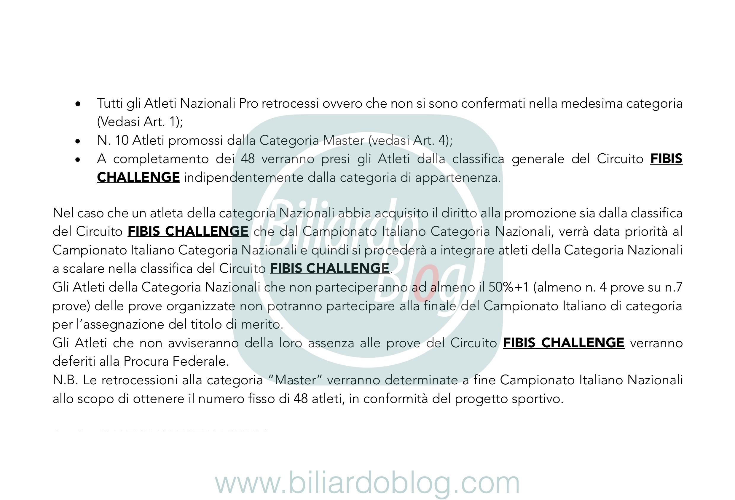Regolamento Tecnico Campionato Biliardo 2019 2020: i Nazionali.